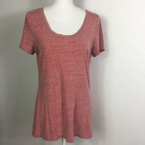 American Eagle XL Heather Terracotta Favorite Tee